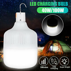 40w/100w Usb Led Light Bulb Portable Night Emergency For House Outdoor Camping