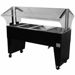 Advance Tabco Portable Cold Food Buffet Table W/ 8 Deep Well Open Base