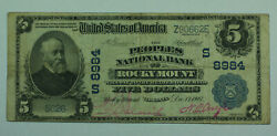 1902 5 Five Dollar Us National Currency Note Rocky Mount Virginia Va 8984