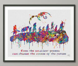 Lord Of The Rings Quote Watercolor Print Nerd Fan Art Movie Poster Lotr Wall Art