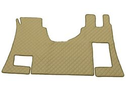 Beige Floor Carpet 100 Eco Leather Covers Mats For Mercedes Actros Mp4 Automat