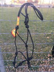 New w Tags Clinton Anderson Rope Halter Average Size Black $74.99