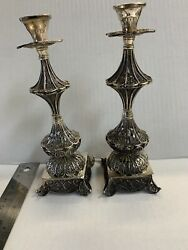 Sterling Silver Shabbat Candle Holders