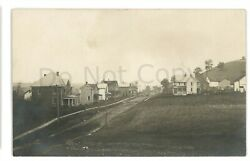 Rppc Early View Of Rural Valley Pa Armstrong County Real Photo Postcard