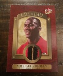 MICHAEL JORDAN 2007-08 FLEER ULTRA CALL TO THE HALL 3 COLOR GAME USED PATCH RARE