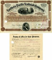 Northern Pacific Railroad Company Issued To And Signed By Gen'l. O.o. Howard - S