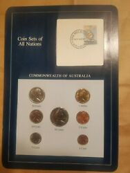 Coin Sets Of All Nations 1984 Australia Set 1 To 1 7 Coins 20 Cents Unc 2c 1982