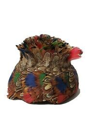 Vintage Peacock Feather Hat Unionmade Stunning Collectible Womenand039s Hat
