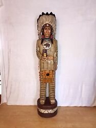 John Gallagher Carved Wooden Cigar Store Indian 5 Ft.tall Very Detailed Bear