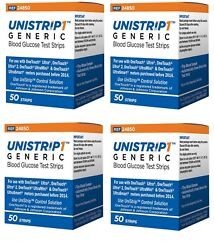 Unistrip Glucose Test Strips 200 Ct Generic For One Touch Ultra Exp 08/2021