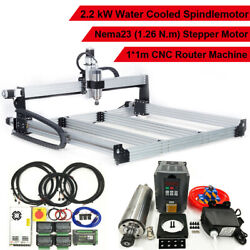 2.2kw Water Cooled Spindle 3 Axis Cnc Engraver Engraving Cutting Machine 1000mm