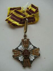 Lithuania Order Of The Gedimus 3rd Class. Type 1 Enamel Both Sides. Rare Ef