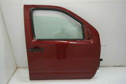 05-11 Nissan Frontier Passenger Front Right Door Without Body Side Moulding Red
