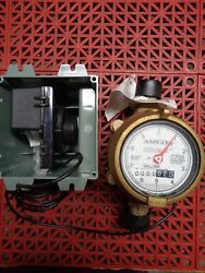 Elster Amco C700 Invision 2p 5/8 X 3/4 Bronze Water Meter Wmodule No Cover New