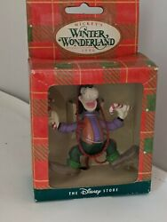 Mickey's Winter Wonderland 1996 Goofy Candy Canes Ornament Disney Store Boxed