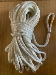 1/2andrdquo X 125 Ft.double Braid Polyester Rope W/6 Inch Eye. White