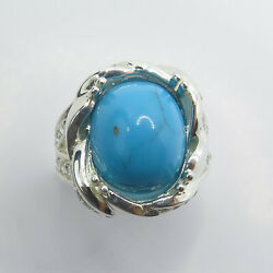 7.85ct Natural Turquoise 925 Sterling Silver 9ct 14k 18k Gold / Platinum Ring