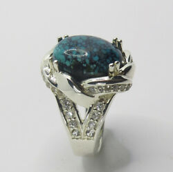8.25ct Natural Turquoise 925 Sterling Silver 9ct 14k 18k Gold / Platinum Ring