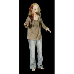 Halloween Life Size Animated Die Ann Zombie Prop Haunted House Decor Pre-sale