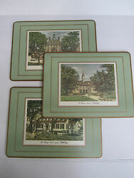 Colonial Williamsburg Virginia Scenes Pimpernel Mats Placemats England Set Of 3