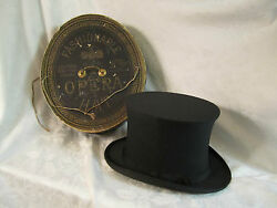 Antique Dunlap And Co N.y Collapsible Opera Top Hat Original Box Richmond Va Store