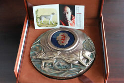 China 2018 155mm Bronze With Enamel Medal - Lunar Year Of The Dog