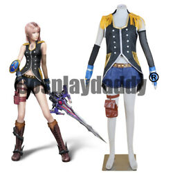 Final Fantasy Xiii Serah Farron Style And Steel Ver. Outfit Cosplay Costume F006