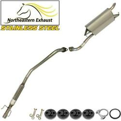 Stainless Steel Exhaust System Kit With Bolts And Hangers Fits 2003-2005 Corolla