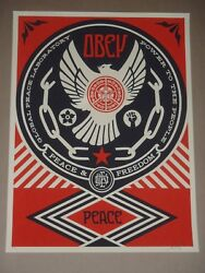 Shepard Fairey Peace And Freedom Dove Obey Giant Poster Urban Art Print Street