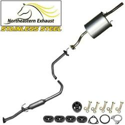 Stainless Steel Exhaust System With Hangers And Bolts Fits 1999-2000 El Civicex