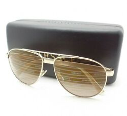 Versace 2209 1252 V3 Pale Gold Gold #x27;Versace#x27; Mirror Authentic Sunglasses New $159.94