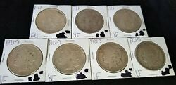 Silver 90 Morgan Dollars 1921, 7 Coins, 5 Troy Oz Hyperinflation Collectible