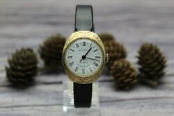Ultra Rare Vintage Ussr 1970s Gold Plated Womenand039s Watch Patern Case Wostok 2209