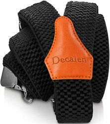 Decalen Mens Suspenders Very Strong Clips Heavy Duty Braces One Size Fits All...