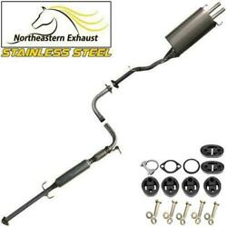 Stainless Steel Exhaust Kit With Bolts And Hangers Fit 1994-97 Accord 1997-99 Cl