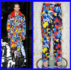 F/w 2012 Look 30 Brand New Versace Military Floral Print Pants 32 - 48 M
