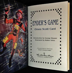 Ender's Game By Orson Scott Card, Easton Press, Science Fiction, 1993 Signed