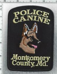 Montgomery County Police Canine Maryland 1st Issue Shoulder Patch