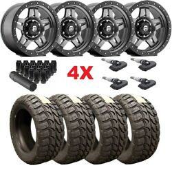 Fuel Anthracite Wheels Rims Tires 33 12.50 20 33/12.50/20 Mud