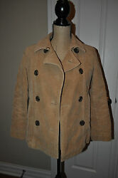 WOMENS GAP Light Brown Cordoroy Fully Linned Coat Size XS Very Warm