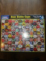 White Mountain 1000pc. Puzzle Beer Bottle Caps 24in X 30in - Factory Sealed