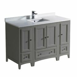 Oxford 48 Traditional Bathroom Cabinets W/ Top And Sink Fcb20-122412-cwh-u