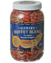 Flukers Buffet Blend Reptile Food Adult Bearded Dragon Diet Health Feed NEW