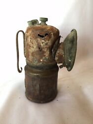 Collectible Vintage Antique Rustic Union 23 Brass Coal Miner's Lamp/ Light