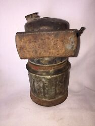 Collectible Vintage Antique Rustic Justrite Brass Coal Miner's Lamp/ Light Usa