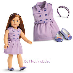 American Girl Truly Me Travel In Style Dress For 18 Dolls Outfit Shoes New
