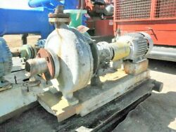 Goulds 3196 Model 771c419 1750 Rpm 275 Gpm 55405 W/ Electric Motor 55406