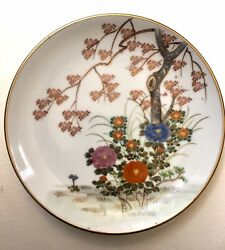 Hand Painted Plate Andrea By Sadek Decor Wall Trees Flowers Japan