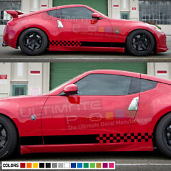Stripes Kit Decal For Nissan 370 Z Xenon Side Front Carbon Light Tail Mirror Lip