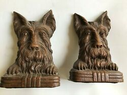 Pair Of Ornawood Scotty Dog Keeping An Eye On You Bookends